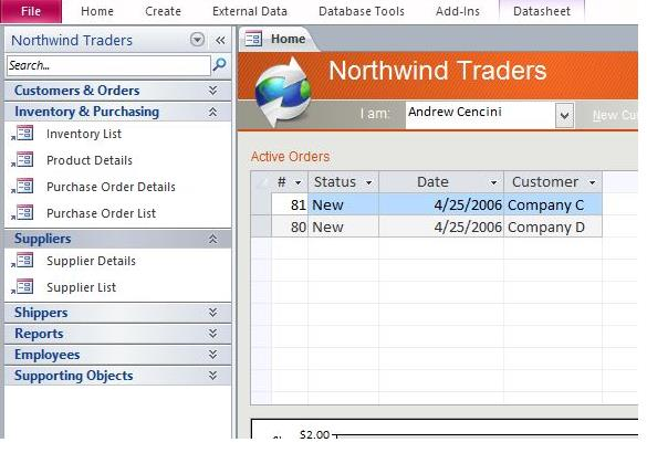 Download Northwind Microsoft Access Templates and Access Database - how to create an inventory database