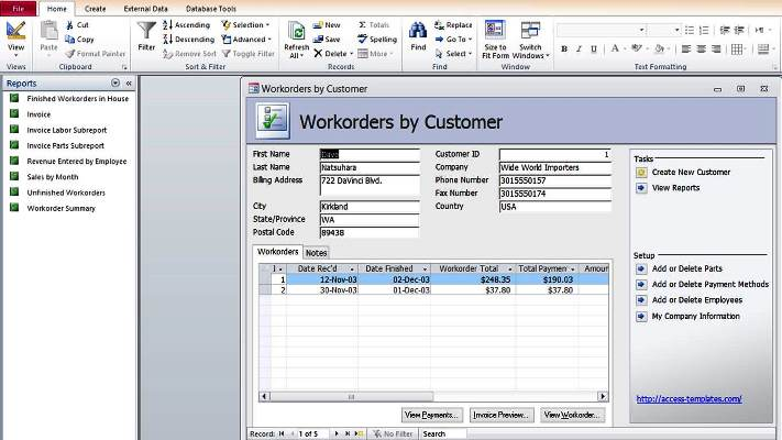 How to Create Microsoft Access Templates from Ready Database Template - how to template