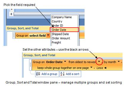 Microsoft Access Database Creating Group and Summary Reports the