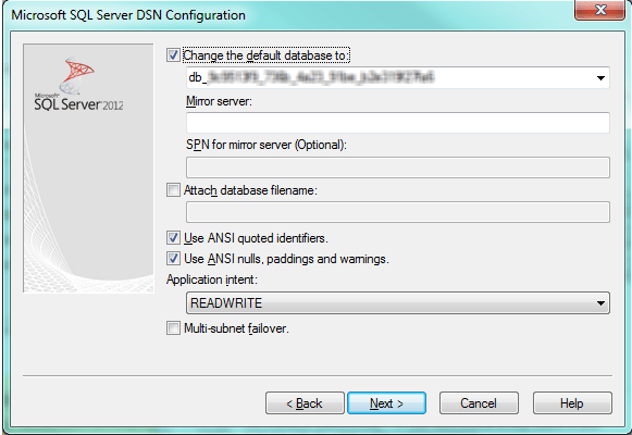 sql server 2012 configuration