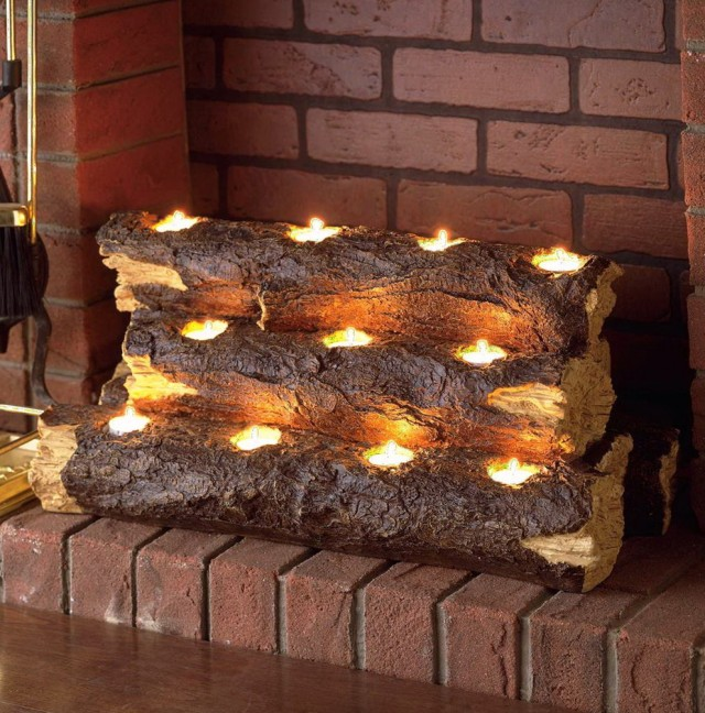 Battery Powered Sconces How To Arrange Fake Logs In Gas Fireplace | Home Design Ideas