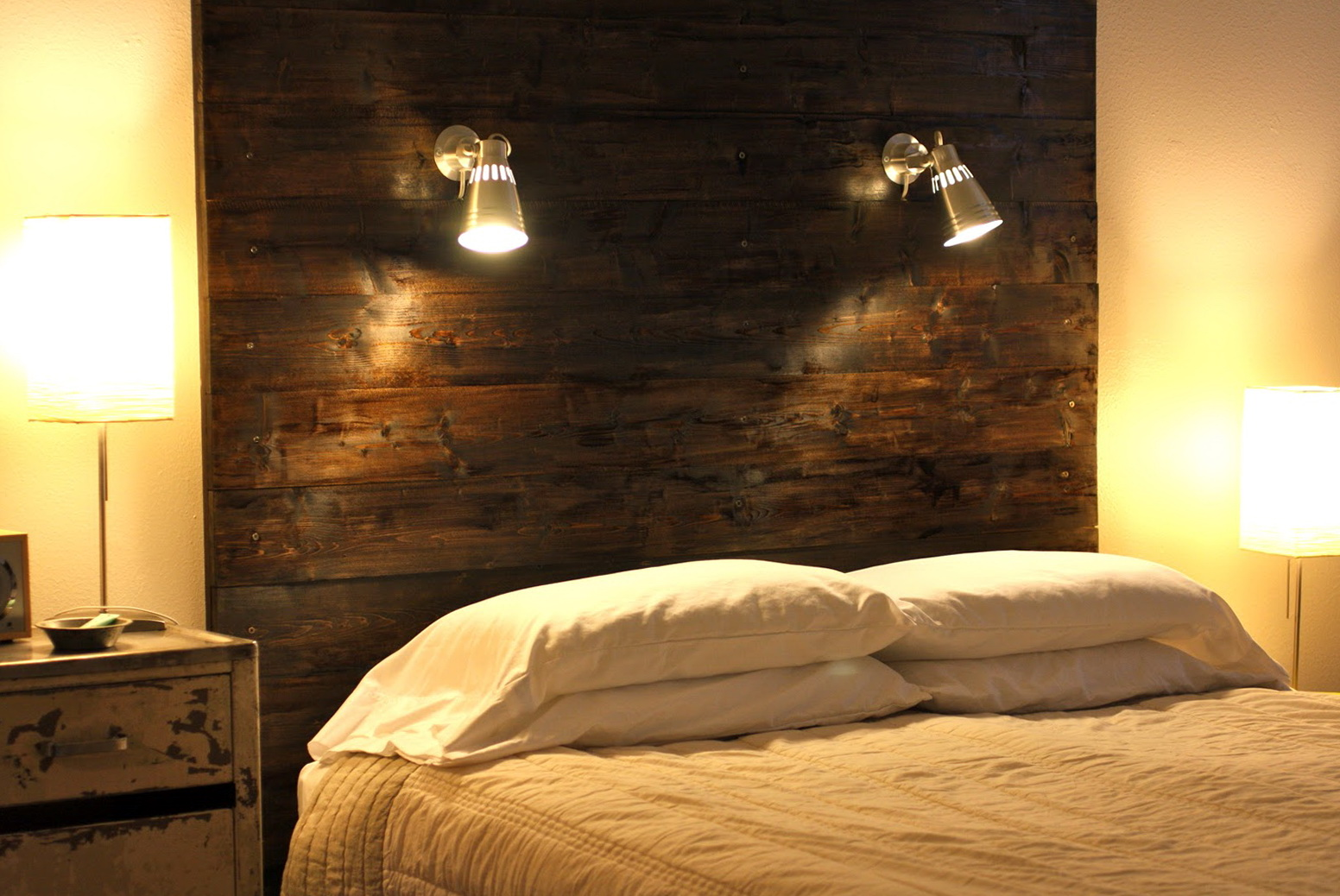Lights Over Headboard Reading Light Attached Headboard Bed Home Design Ideas