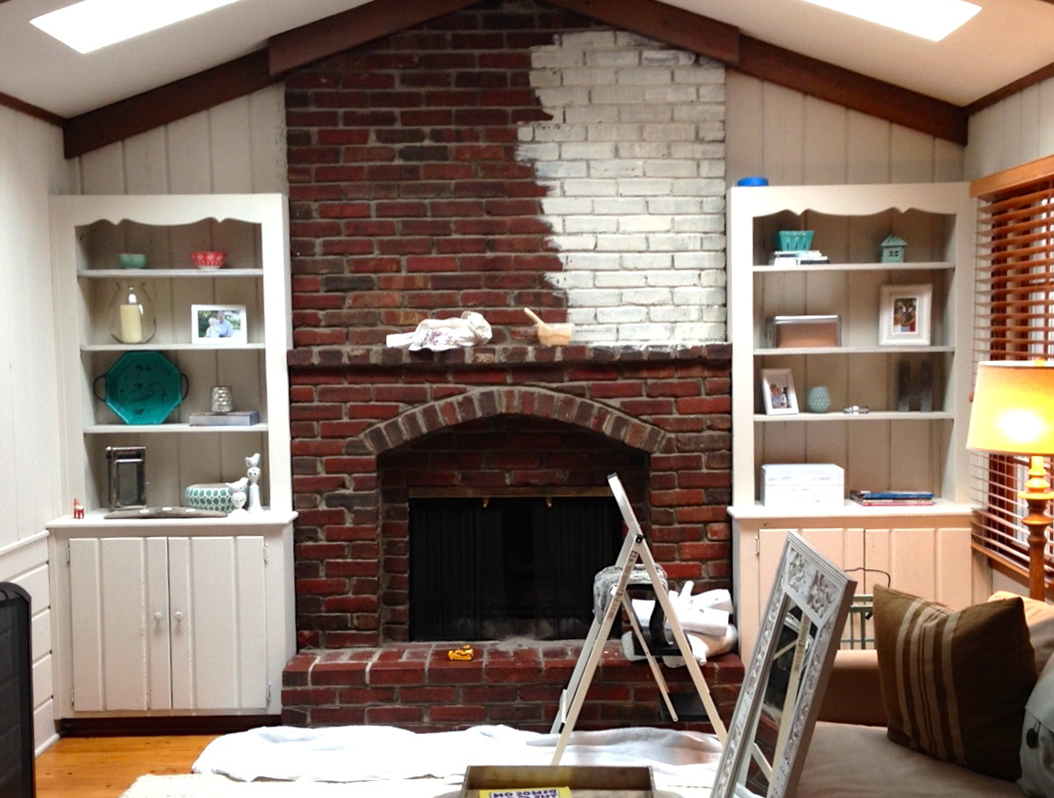 Whitewash Fireplace Before And After Whitewash Brick Fireplace In Snazzy Jim To Agree But Finally I Was