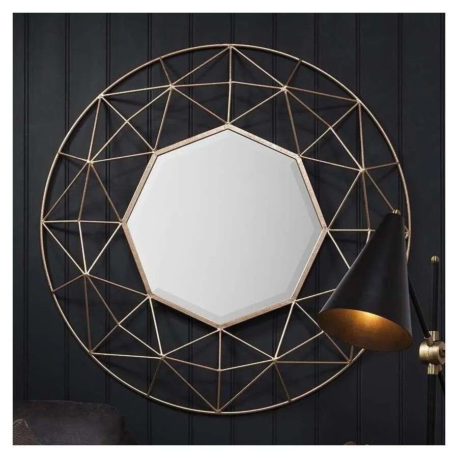 3d Bookshelf Wallpaper Adra Geometric Mirror From Accessories For The Home