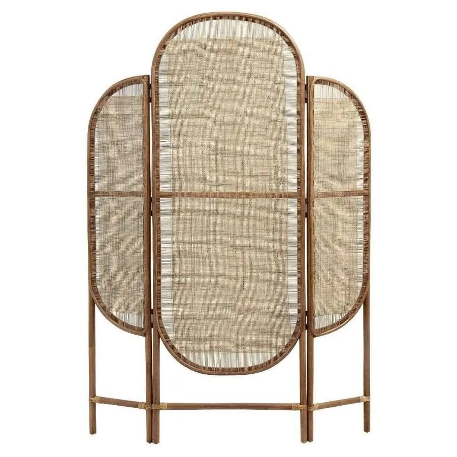 Rattan Paravent Nordal Natural Rattan Room Divider | Acc For The Home