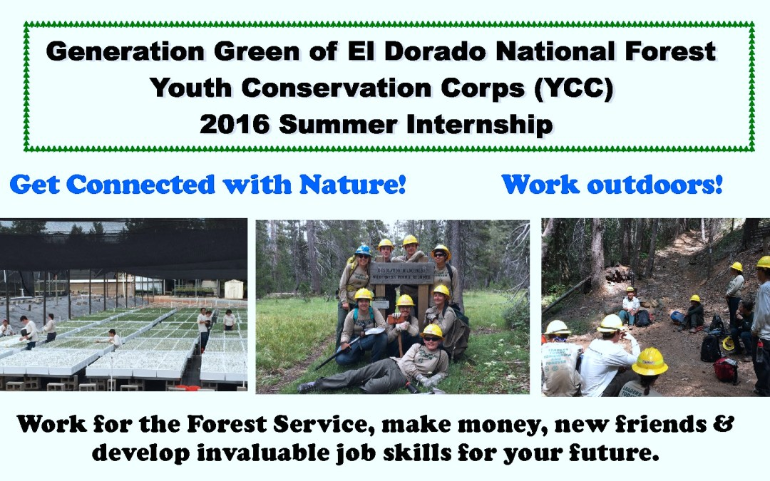 US Forest Service Jobs:  Youth Conservation Corps applications are due!