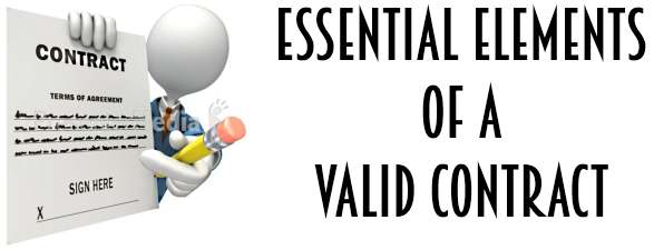 Essential elements of a valid contract - contract important elements