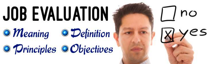 Job Evaluation Meaning  Definition Principles Objectives