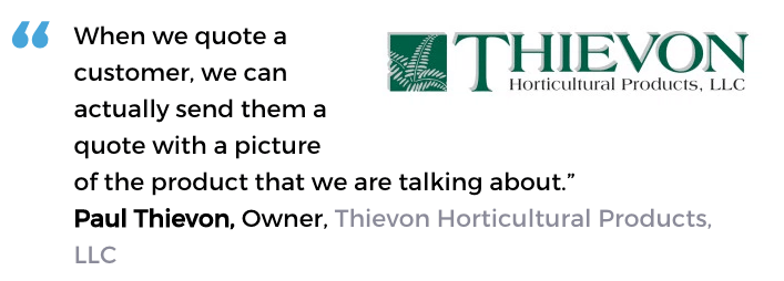 Acctivate inventory and order processing software user, Thievon Horticultural Products