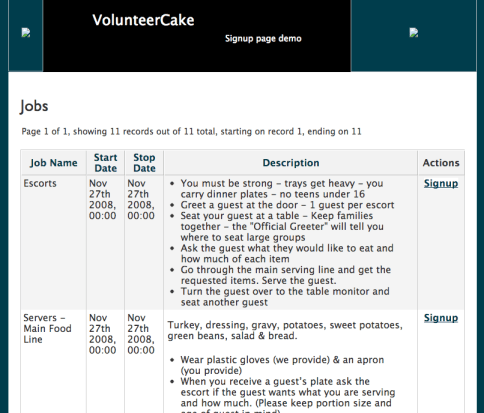 VolunteerCake Jobs