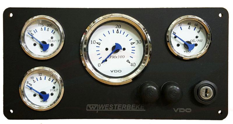 westerbeke panel wtih vdo gauges - AC DC Marine Inc