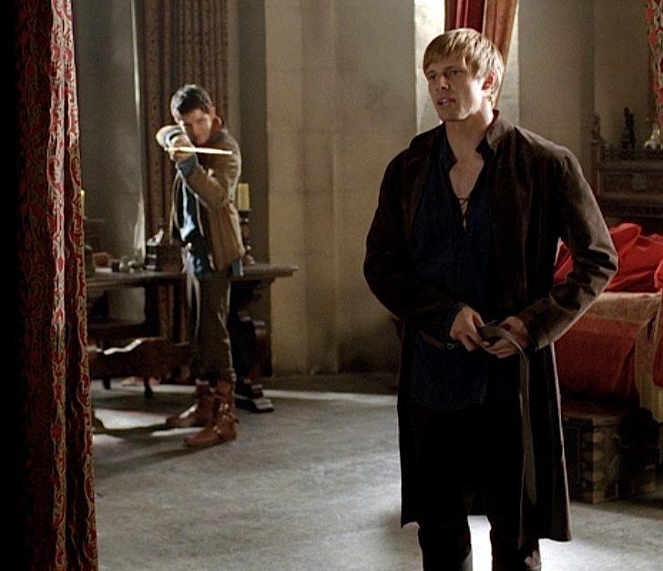 Merlin takes aim at Arthur