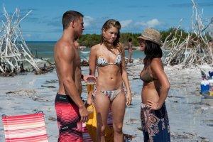 Mike (Tatum), Brooke (Cody Horn) and Olivia Munn as Joanna