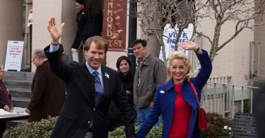 Will Ferrell as Cam Brady and Katherine LaNasa as his wife Rose