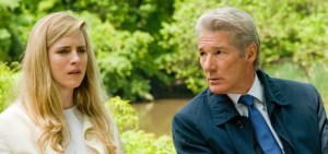 Brit Marling  as Brooke Miller and Richard Gere playing her father Robert