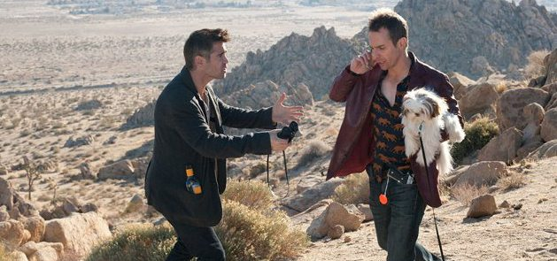 Marty (Colin Farrell) and Billy (Sam Rockwell) talk over their situation in Seven Psychopaths