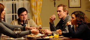 Catherine Keener, Oliver Platt, Hugh Laurie and Alia Shawkat in The Oranges