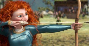 Merida takes aim at a target