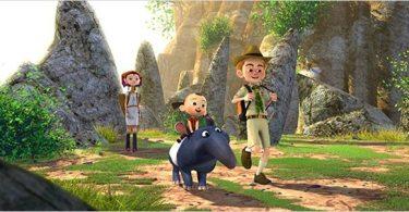 Norva, Jorpe and Sam travel in a Thai jungle