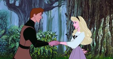 Prince Phillip meets Princess Aurora for the first time