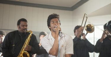 Chadwick Boseman as James Brown with The Famous Flames