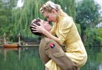 Tamsin Egerton as Ophelia and Callum Turner as Percy in Queen and Country