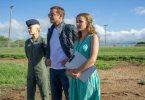 "Emma Stone, Bradley Cooper and Rachel McAdams star in Columbia Pictures' ""Aloha."""