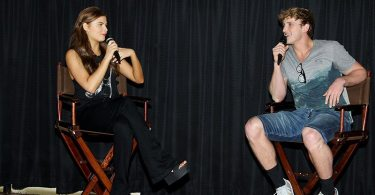EXCLUSIVE - New York, NY - 5/27/15 - Special Screening of INSIDIOUS: CHAPTER 3    -PICTURED: Stefanie Scott, Logan Paul -PHOTO by: Marion Curtis/Starpix  -Filename: MC_00321.JPG -Location: Regal Union Square Theater  Startraks Photo New York,  NY For licensing please call 212-414-9464  or email sales@startraksphoto.com Startraks Photo reserves the right to pursue unauthorized users of this image. If you violate our intellectual property you may be liable for actual damages, loss of income, and profits you derive from the use of this image, and where appropriate, the cost of collection and/or statutory damages.