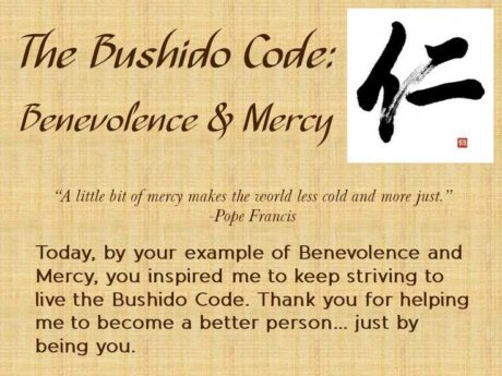 The Bushido Code The Eight Virtues of the Samurai - code of conduct example