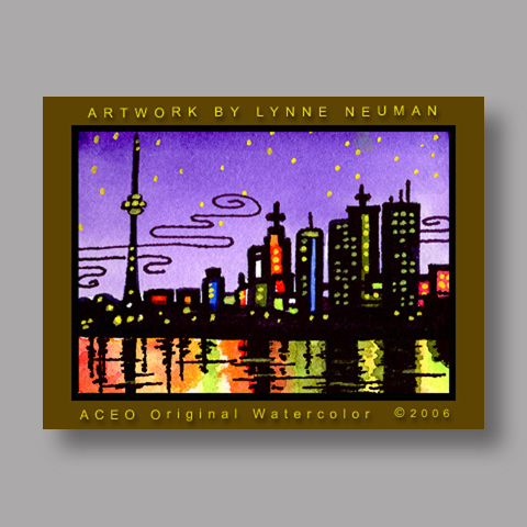 Signed ACEO *Toronto Canada #512* by Lynne Neuman