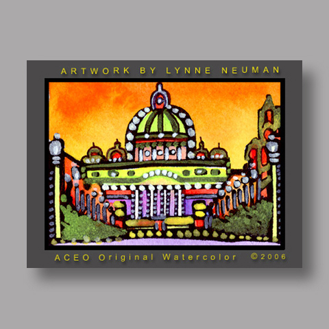 Signed ACEO *Vatican City Italy #733* by Lynne Neuman