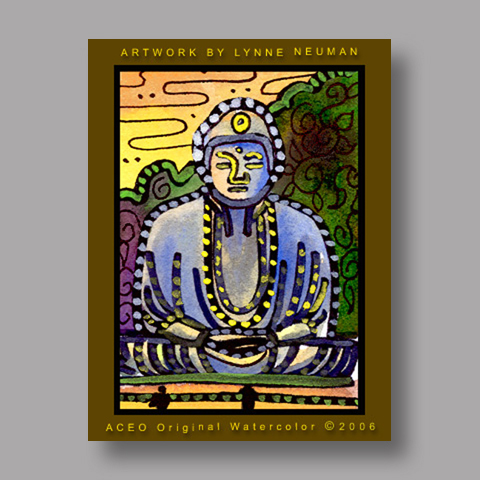 Signed ACEO *Buddha Japan #765* by Lynne Neuman