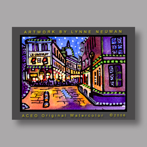 Signed ACEO *Montmartre Paris France #846* by Lynne Neuman