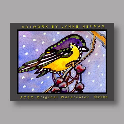 Signed ACEO *Baltimore Oriole Bird #1137* by Lynne Neuman