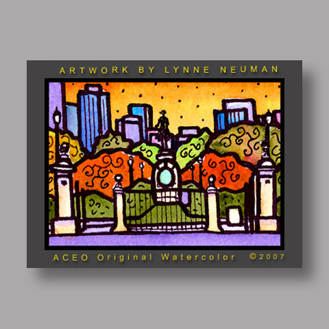 Signed ACEO *Boston Commons #1346* by Lynne Neuman