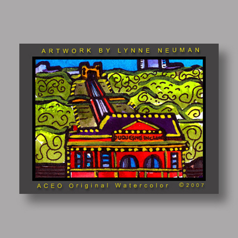 Signed ACEO *Incline Pittsburgh #1457* by Lynne Neuman