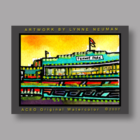 Signed ACEO *Fenway Park Boston #1704* by Lynne Neuman