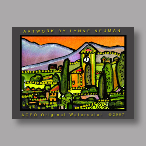 Signed ACEO *Lake Como Italy #1752* by Lynne Neuman