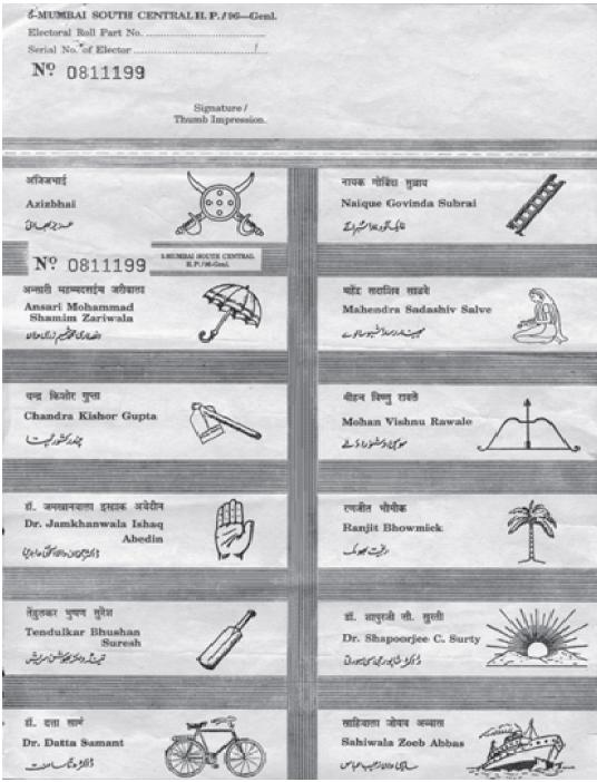 Sample of an Indian ballot Ballot design Pinterest - sample background report