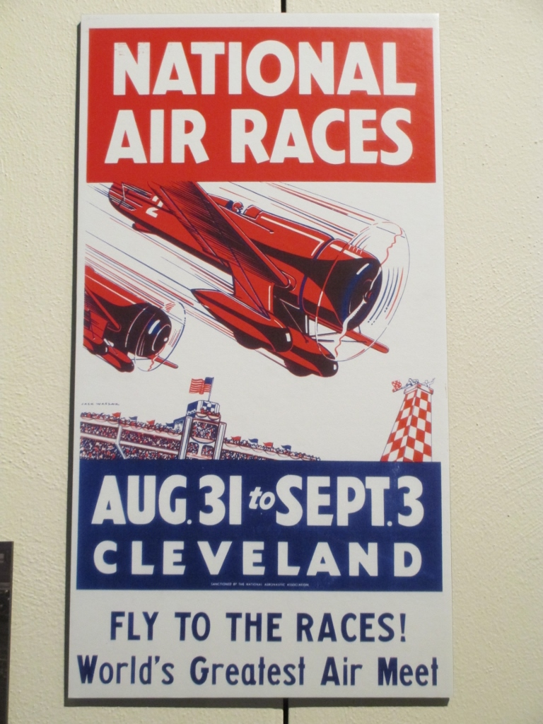 National air races poster travel air mystery ship cleveland