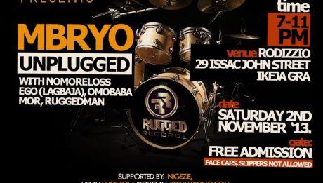 Rugged Records' Mbryo Goes Live Again, November 2nd 2013 Artwork