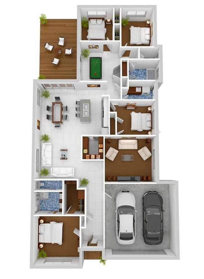 4 Rooms Four Bhk House Plan Ideas India, Home Designs ...