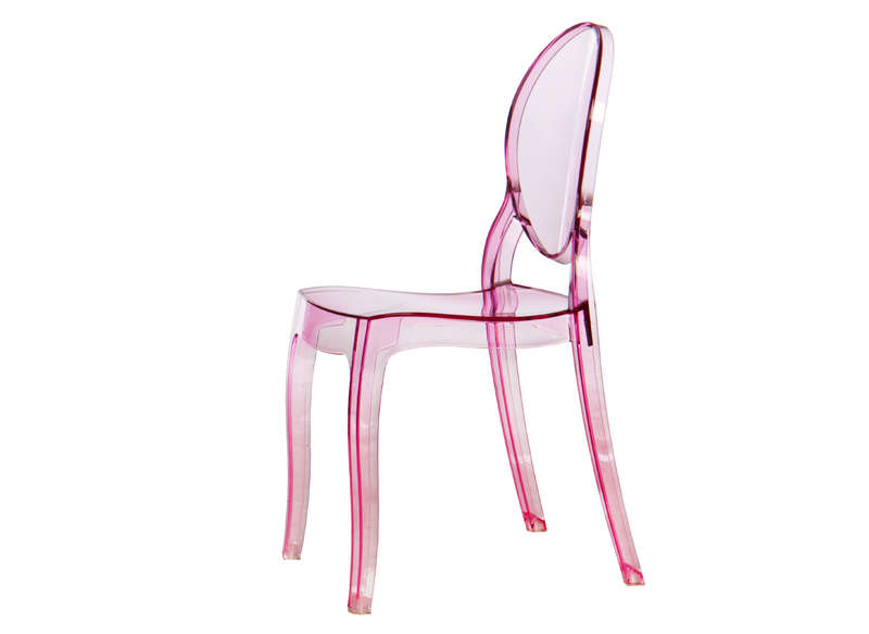 Chaises Medaillon Transparentes Chaise Rose Transparente – Table De Lit A Roulettes