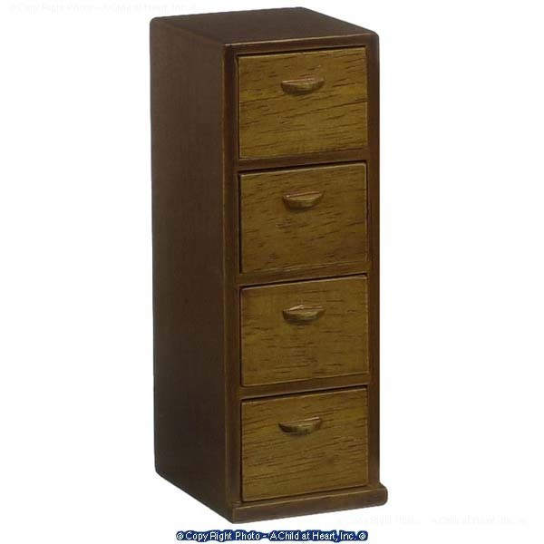Large Dollhouse File Cabinet