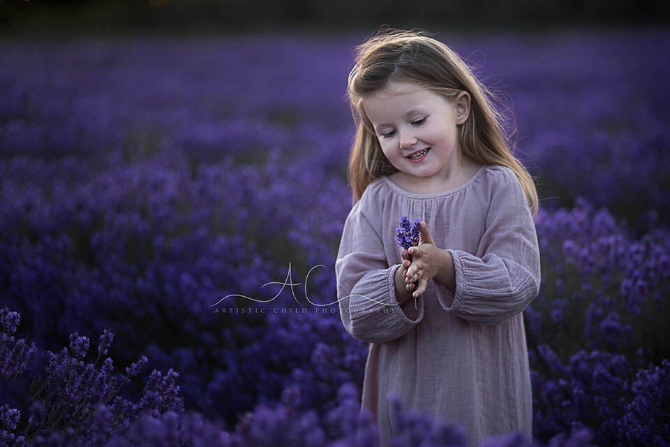 Newborn Toddler Child Best London Children Photos In Lavender Field