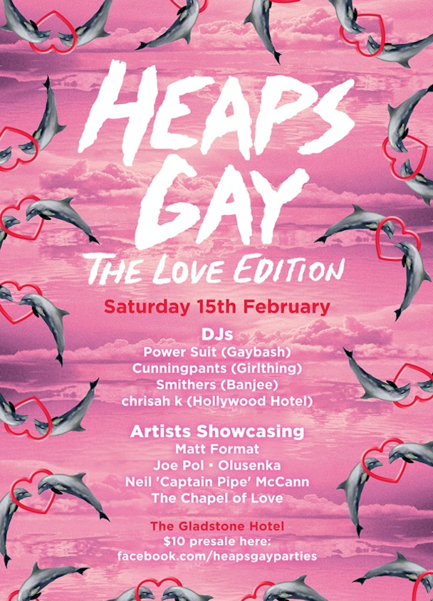 Heaps Gay - The Valentine's Day Edition Poster