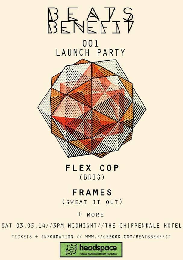 Beats Benefit - Frames - Flex Cop - acid stag - poster