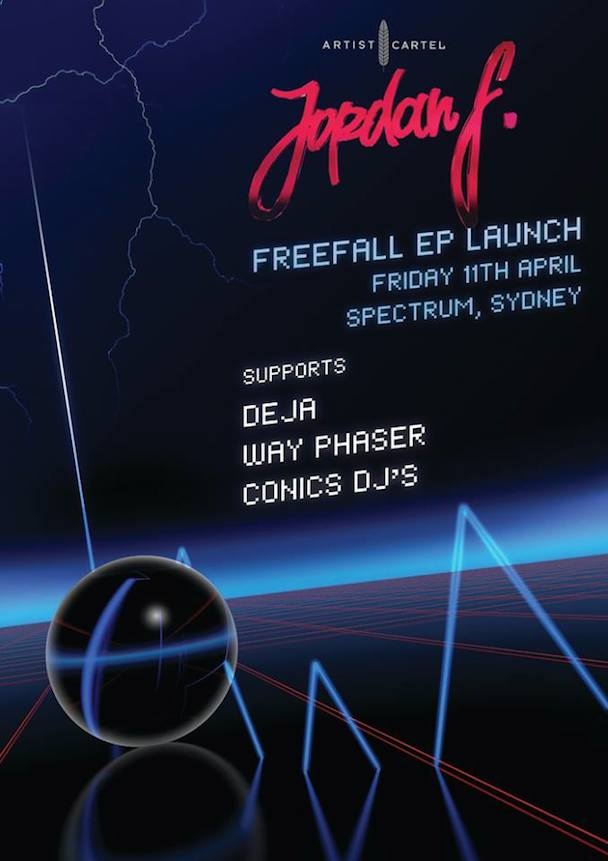 Jordan F - Freefall EP Launch -poster - acid stag