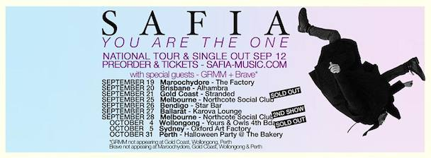SAFIA - You Are The One - Tour Banner - acid stag