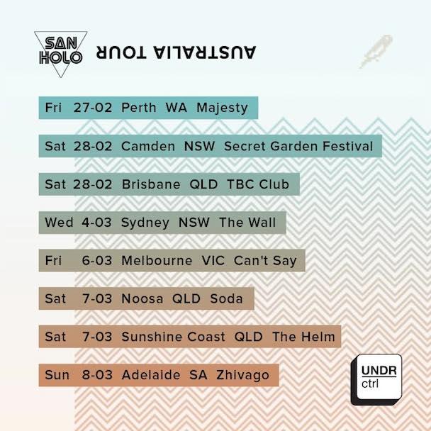 San Holo Aussie Tour - acid stag